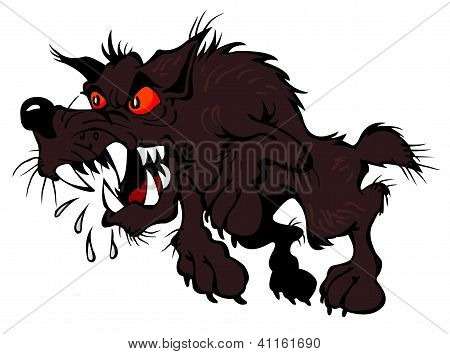 Embittered brown dog