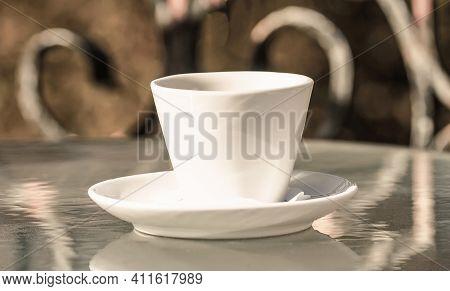 Close Up Coffe Cups. Closeup. Coffe Time. Black Coffee