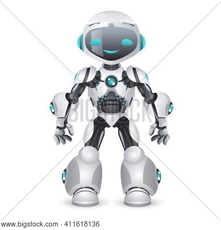 Artificial Intelligence Robot Technology Mechanical Future Scifi Science Fiction Design 3d Vector Il