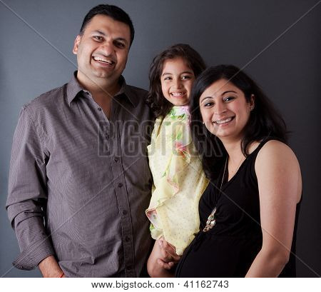 Happy East Indian Family