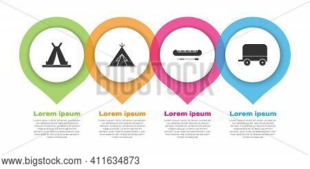 Set Indian Teepee Or Wigwam, Indian Teepee Or Wigwam, Kayak Or Canoe And Paddle And Wild West Covere