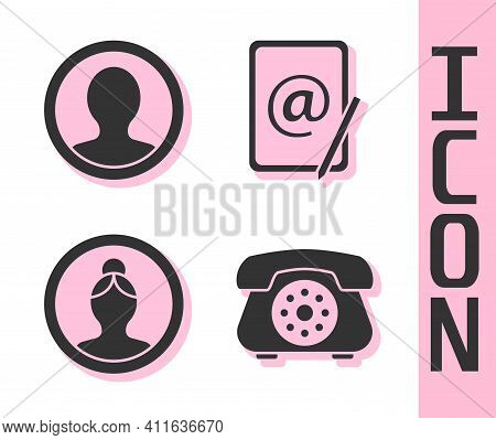 Set Telephone, Create Account Screen, Create Account Screen And Mail And E-mail Icon. Vector