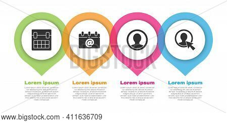 Set Calendar, Calendar With Email, Create Account Screen And Create Account Screen. Business Infogra