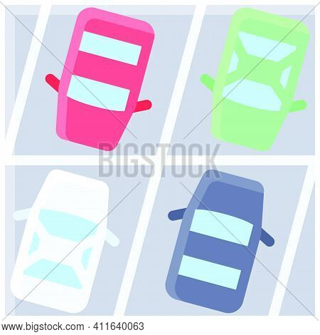 Full Parking Lot Icon, Parking Lot Related Vector Illustration