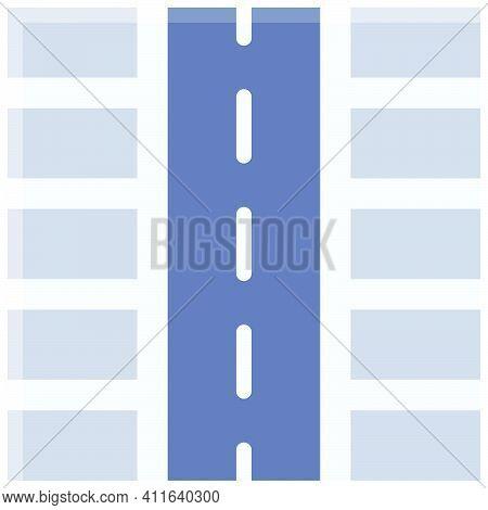 Roadside Parking Lot Icon, Parking Lot Related Vector Illustration