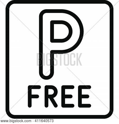 Free Parking Sign Icon, Parking Lot Related Vector Illustration