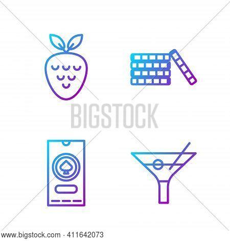 Set Line Martini Glass, Casino Poker Tournament Invitation, Casino Slot Machine With Strawberry And