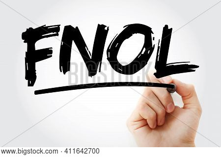 Fnol - First Notice Of Loss Acronym With Marker, Business Concept Background