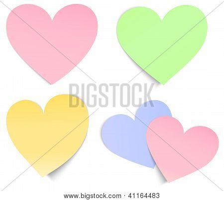 Heart Shaped Post It Multicolour
