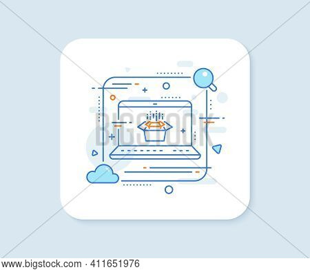 Packing Boxes Line Icon. Abstract Vector Button. Delivery Parcel Sign. Cargo Box Symbol. Packing Box