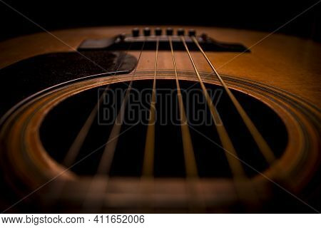 Guitar.guitar\'s Chords.acoustic Guitar.music.music Background.image Of An Acoustic Guitar In The Da