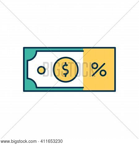 Sales Revenue Rgb Color Icon. Income From Goods And Services Selling. Expenses, Costs And Taxes. Pay