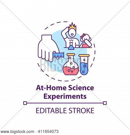 At Home Science Experiments Concept Icon. Family Fun Ideas. Creating Intersting School Project With