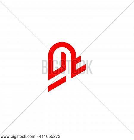 Letter Ut Line Art Geometric Design Logo Vector