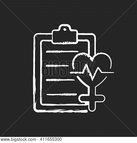 Access To Healthcare Chalk White Icon On Black Background. Equal Access To Health Care Services. Equ