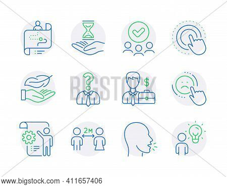 People Icons Set. Included Icon As Social Distancing, Settings Blueprint, Approved Group Signs. Jour