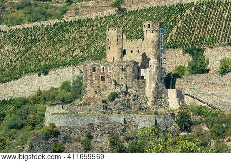 Ruine Der Burg Ehrenfels, Rüdesheim Am Rhein, Rheingau, Hessen, Deutschland