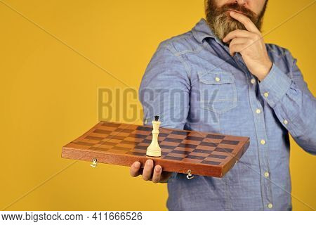 Chess Lesson. Cognitive Development. Enjoy Tournament. Strategy Concept. Chess Competition. Board Ga