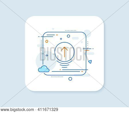 Swipe Up Line Icon. Abstract Square Vector Button. Scrolling Arrow Sign. Landing Page Scroll Symbol.