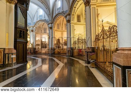 Interior View Of The Cathedral Of Valencia