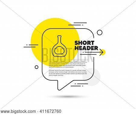 Cognac Bottle Line Icon. Speech Bubble Vector Concept. Brandy Alcohol Sign. Cognac Bottle Line Icon.