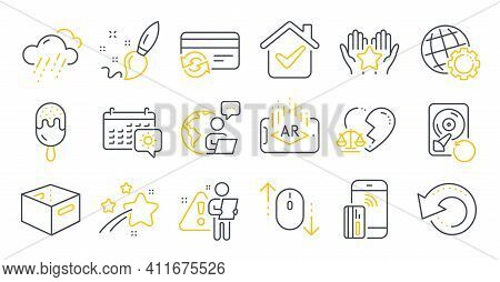 Set Of Business Icons, Such As Recovery Data, Ranking, Recovery Hdd Symbols. Change Card, Augmented