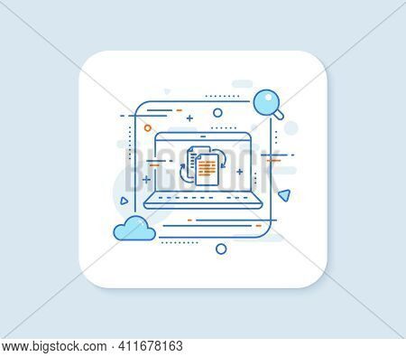 Documents Workflow Line Icon. Abstract Vector Button. Doc File Page Sign. Bureaucracy Symbol. Bureau