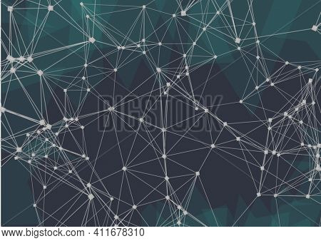 Network of connections against plexus networks on black background. global networking and business technology concept