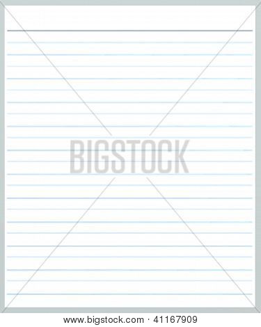 A Sheet Of Grey Color Lined  Paper