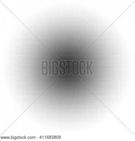 Jagged lines halftone circle abstract background, gradient illustration, sharp wave texture
