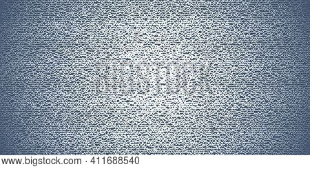 Doodle style white jagged horizontal lines on blue background, abstract illustration