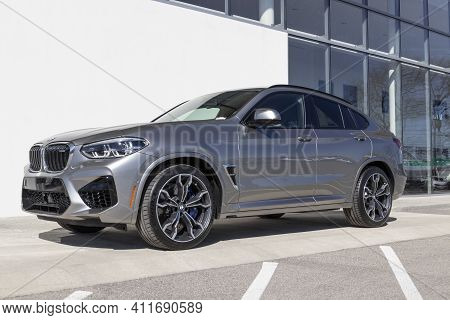 Indianapolis - Circa March 2021: Bmw X4 M On Display. Bmw Builds Luxury And Electric Vehicles And Is