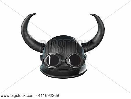 Motorcycle Helmet Black. Motorcycle Helmet Carbon. Helmet Classic Style 3d Render