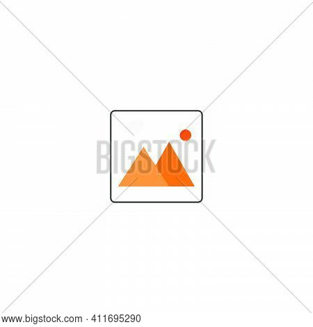 Picture Preview Icon Mobile Application Template, Element Design And Website. Vector Illustration Is