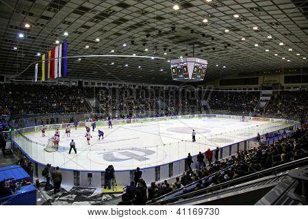 Stadium During Ice-hockey Game