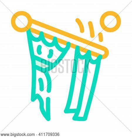 Husband For Hour Installating Cornices Color Icon Vector Illustration