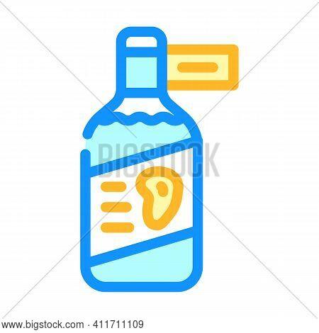 Vinegar Mango Color Icon Vector Illustration Line