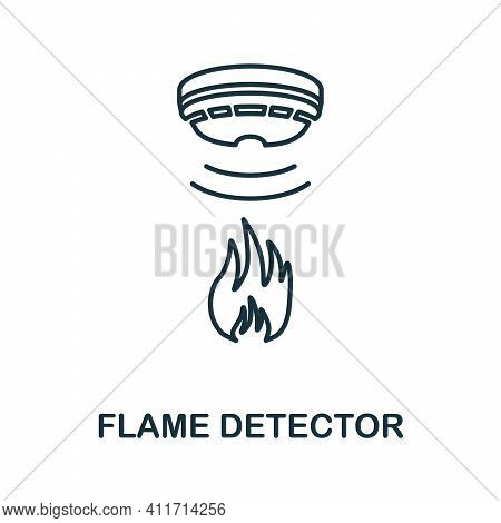 Flame Detector Icon. Simple Element From Sensors Icons Collection. Creative Flame Detector Icon Ui,