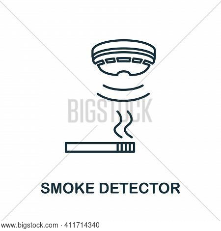 Smoke Detector Icon. Simple Element From Sensors Icons Collection. Creative Smoke Detector Icon Ui,