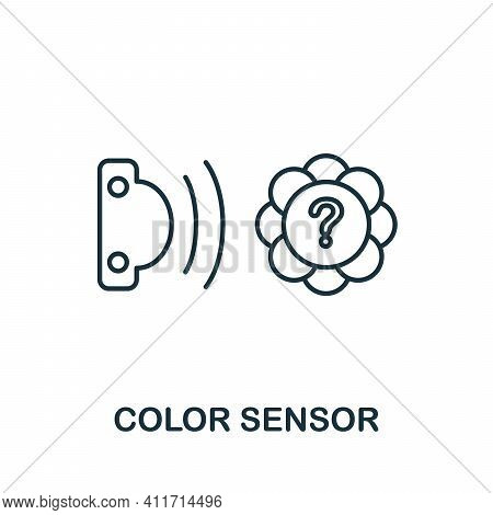 Color Sensor Icon. Simple Element From Sensors Icons Collection. Creative Color Sensor Icon Ui, Ux,