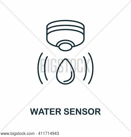 Water Sensor Icon. Simple Element From Sensors Icons Collection. Creative Water Sensor Icon Ui, Ux,