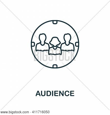 Audience Icon. Simple Element From Social Media Collection. Creative Audience Icon For Web Design, T