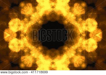 Gold Texture Of Scratch, Dust. Shining Golden Mosaic Glass Background. Creative Gold Metal Geometric