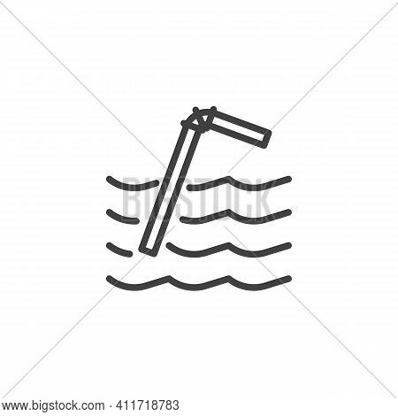 Plastic Straw Pollution Line Icon. Linear Style Sign For Mobile Concept And Web Design. Plastic Stra