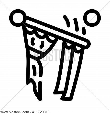 Husband For Hour Installating Cornices Line Icon Vector Illustration