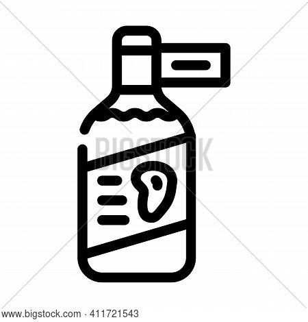 Vinegar Mango Line Icon Vector Illustration Line