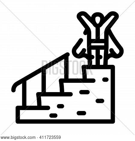 Career Advancement Line Icon Vector Illustration Line