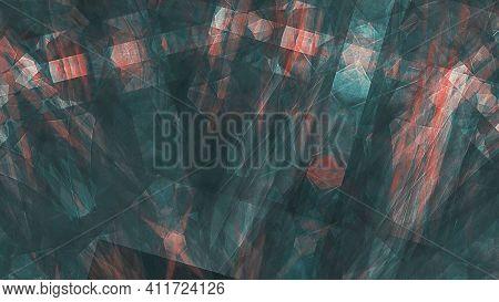 Smooth Spread Of Ink Explosion, Kaleidoscopic Background. Beautiful Multicolor Kaleidoscope Texture.