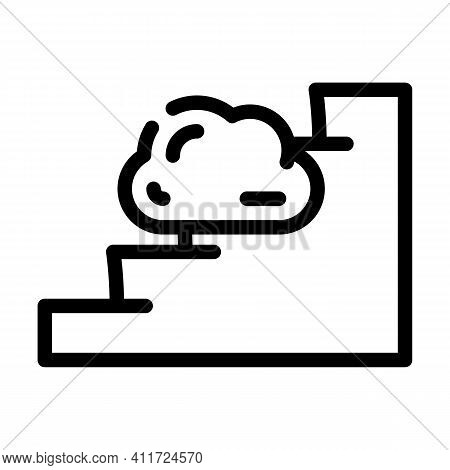 Stairway To Heaven Line Icon Vector Illustration