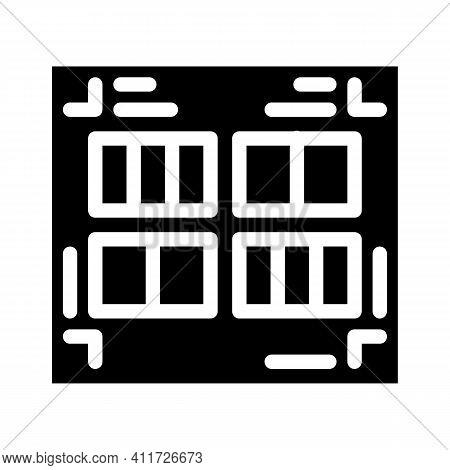 Prefabricated Printing Catalogs Glyph Icon Vector Illustration